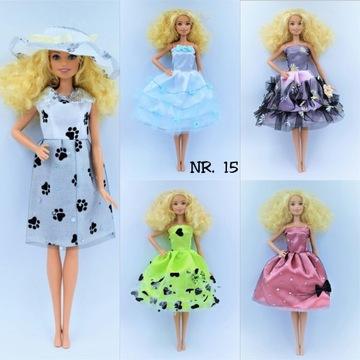 Ubranka dla lalek typu Barbie - 5 sztuk, zestaw