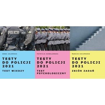 Testy do Policji 2021 komplet 3 książek