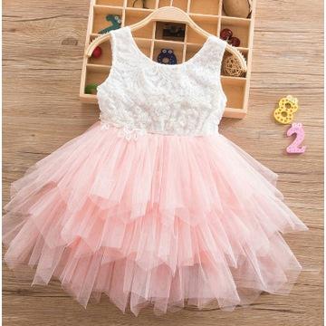 Elegancka sukienka tiul 100