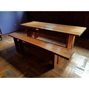 Ława stół ogrodowy duży i dwie ławki do siedzenia