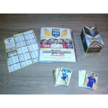 Karty piłkarskie 120 + album + lista + puszka duża