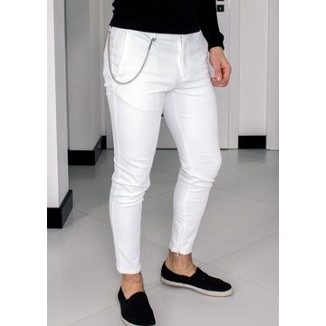 Spodnie Zara W30 (S - 38) Białe Slim 09E003