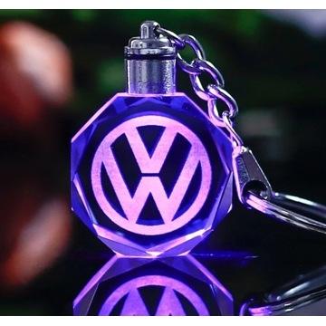 Brelok LED logo VW Volkswagen idealny na prezent