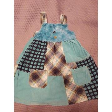NEXT Sukienka z futerkiem 4-5 lat roz. 110