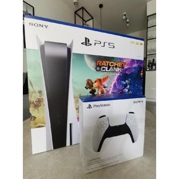 Playstation 5 PS5 z napędem, dwa pady DualSense