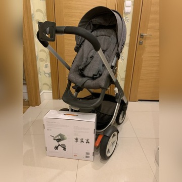 Spacerówka STOKKE Crusi + SUMMER KIT FLORA GREEN
