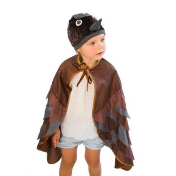 Wróbel strój czapka ze skrzydłami