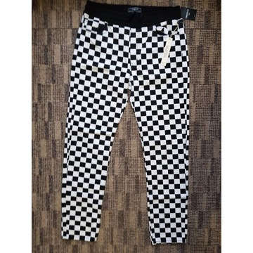 Spodnie w kratę - Forever 21 Checkered Pants