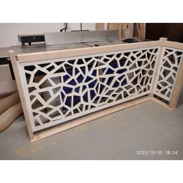 panel ażurowy,dekoracyjny,balustrada bez słupków