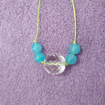 Naszyjnik - biżuteria kryształowa dł. 73 cm