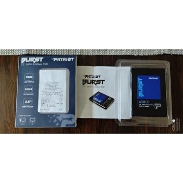 """SSD PATRIOT Burst 480GB SATA3 2.5"""" 560/540 MB GW!"""