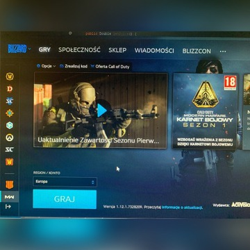 CoD Modern Warfare , StarCraft II konto battlenet
