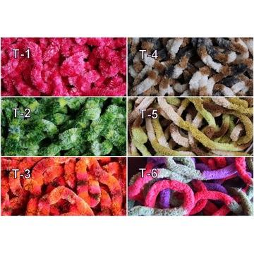 Chenille 9-10 mm materiał muchowy, kogut, koguty,