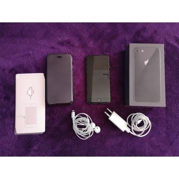 Apple IPHONE 8 + box, akcesoria, etui, papiery