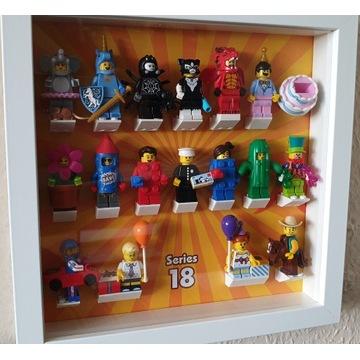 LEGO MINIFIGURES seria 18 71021 KOMPLET+ramka