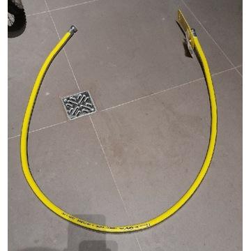 Wąż do gazu 2 metry z nakrętkami G 1/2. Elastyczny
