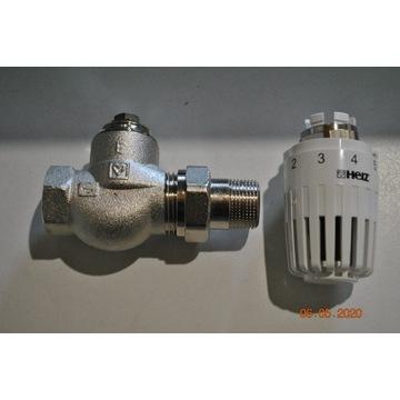 zestaw grzejnikowy zawór i głowica termostaty HERZ
