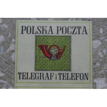 Nalepka zalepka na listy i paczki wartościowe PRL