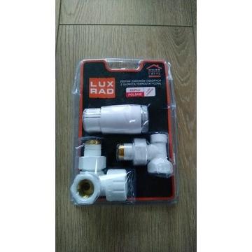 Zestaw do grzejnika termostat w lewo Biały LUXRAD