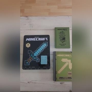 Książka poradnik MINECRAFT puszka brelok szkicowni