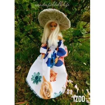 Ubranko długa sukienka dla lalki Barbie