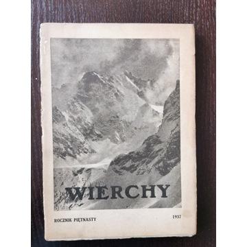 Wierchy ROCZNIK PIĘTNASTY 1937