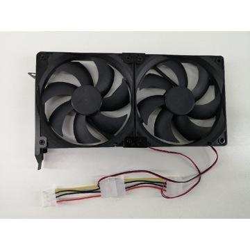 2 Wentylatory 120 PCI Chłodzenie Karty Graficznej
