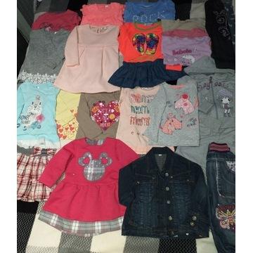 Ubranka dziewczęce rozmiar 86- 92 zestaw