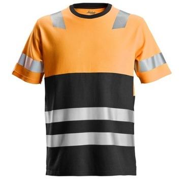SNICKERS odblaskowa koszulka t-shirt pomarańczowa