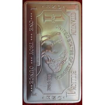 Tytan 999 Titanium 1 uncja 1 troy ounce