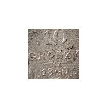 10 Groszy 1840 z kropką po nominale, rzadkie