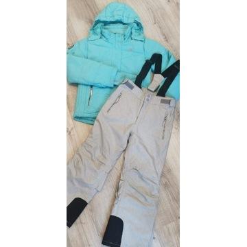 4F kurtka spodnie narciarskie używane 134cm bdb