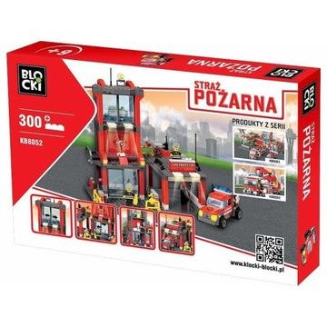 Blocki Klocki Straż pożarna 300 elementów - Remiza