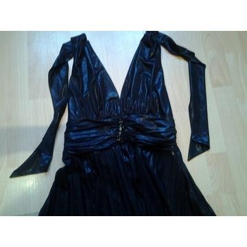 Suknia wieczorowa L-XXL ideał wiązana na szyi