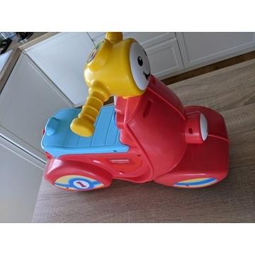 Samochód-jeździk, stan bdb + zabawki Fisher Price