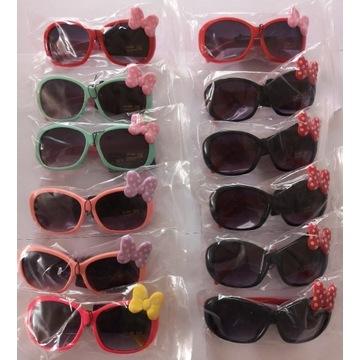 Okulary przeciwsłoneczne kokardka różne kolory
