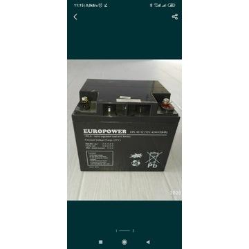 Fotowoltaika Akumulator Europower 12V 42Ah AGM