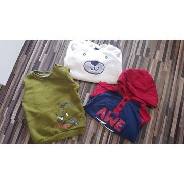 Zestaw bluzek sweterków dla chłopca