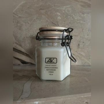 Świeczka sojowa zapachowa z naturalnego wosku