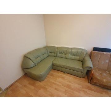 Sofa kanapa narożnik z ekoskóry rozkładany