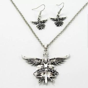 """Komplet biżuterii """" Bon Jovi """""""