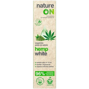 NATUREON hemp white wegańska pasta do zębów 100 ml