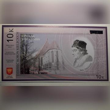 banknot --- 10 koron kieleckich