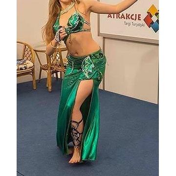 Elegancki zielony kostium do tańca brzucha