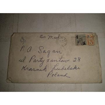 List z USA do Kraśnika 1962