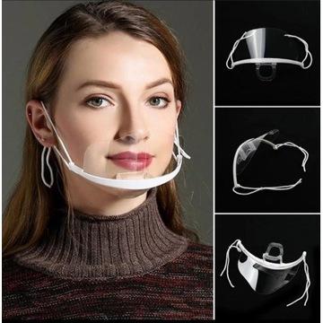 Maska maseczka Półprzyłbica plastikowa |przyłbica