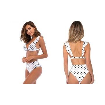 Bikini strój kąpielowy roz XXL groszki