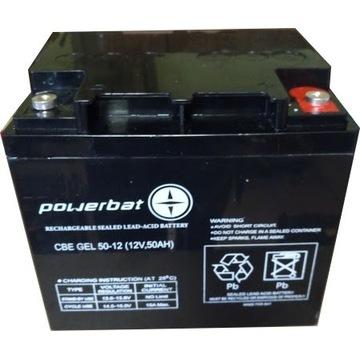 Akumulator żelowy GEL 50AH wózki, ups, zasilanie