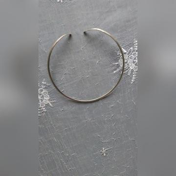 Obroża , łańcuszek , gruba 0,5 cm srebro