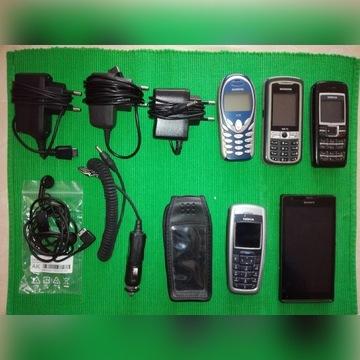 Telefony komórkowe XPERIA, 2x Nokia, 2x Siemens